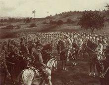 圣地亚哥的西班牙军队投降
